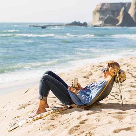 Kleine Inklapbare Strandstoel.Opvouwbare Strandstoel